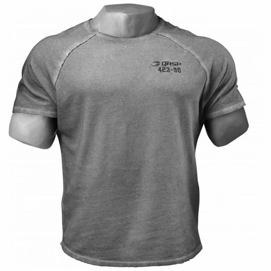 GASP Heritage Raglan T-Shirt Grey Melange L Harmaa