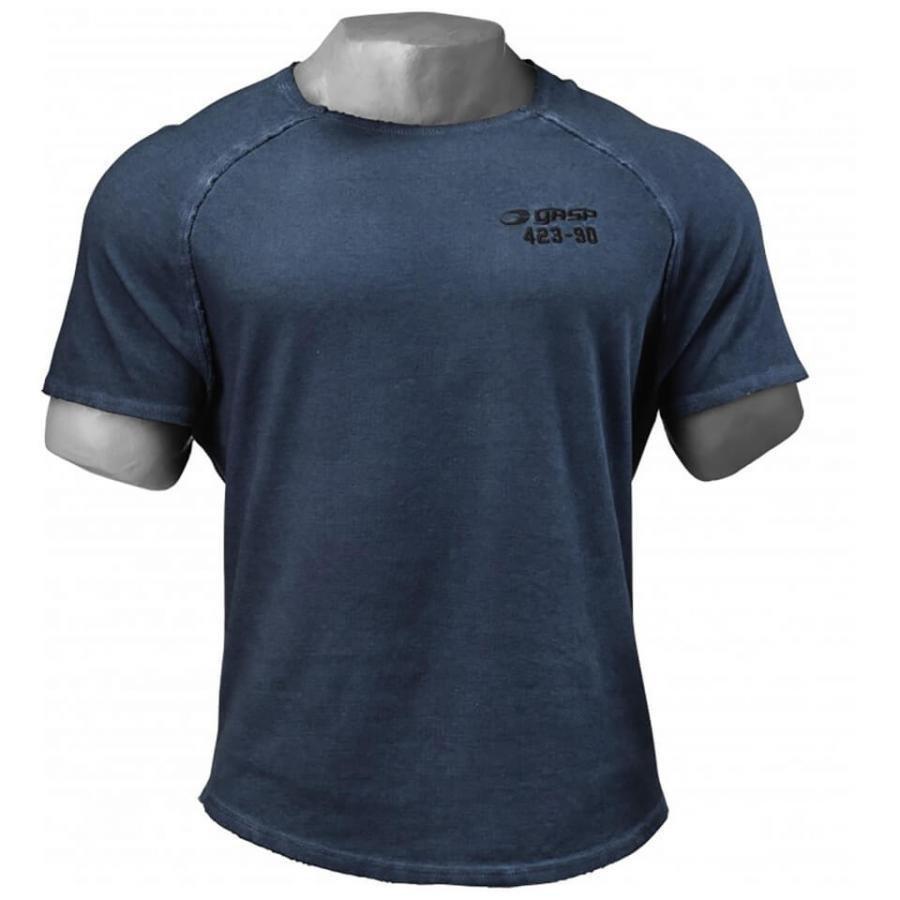 GASP Heritage Raglan T-Shirt Petrol Blue M Sininen