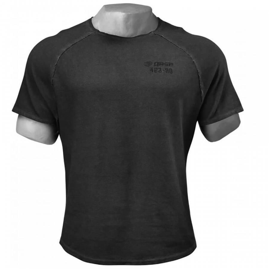 GASP Heritage Raglan T-Shirt Wash Black M Musta