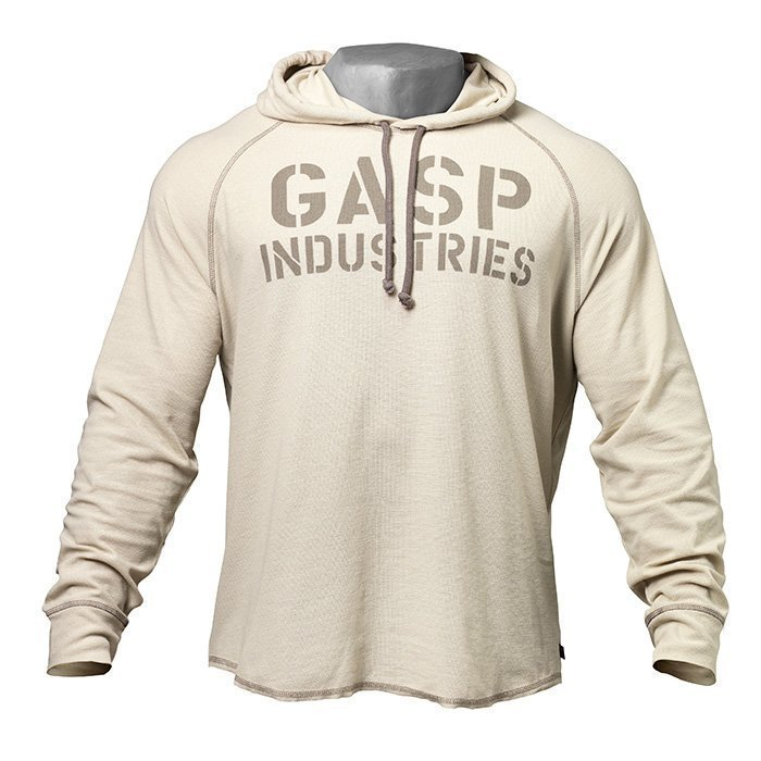 GASP L/S Thermal Hoodie cement XL