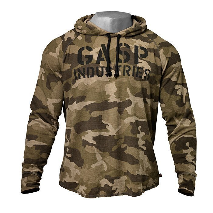GASP L/S Thermal Hoodie green camoprint M