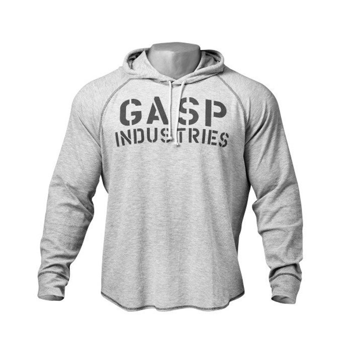 GASP L/S Thermal Hoodie grey melange XXXL