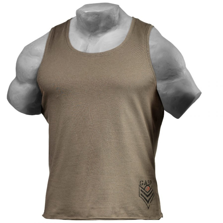 GASP Men's Broad Street Tank Top Wash Green S Vihreä