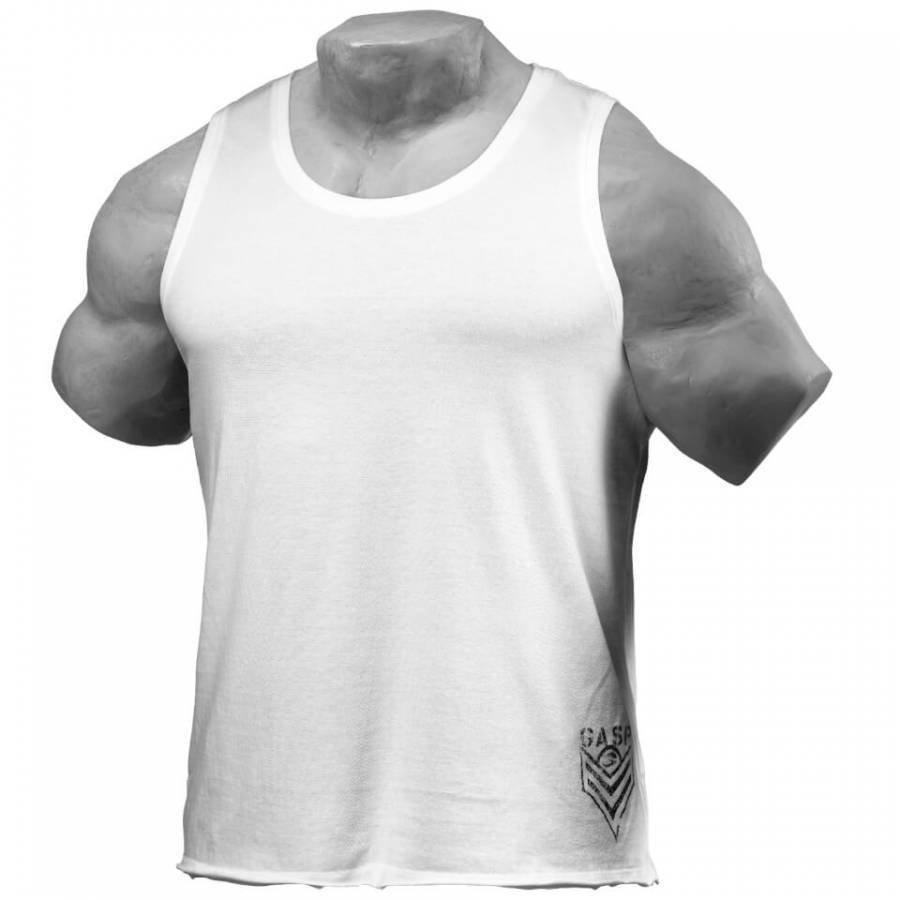 GASP Men's Broad Street Tank Top White XL Valkoinen
