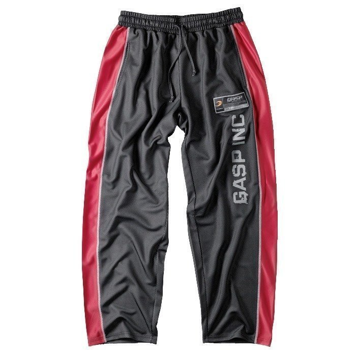 GASP No 1 mesh pant black/red