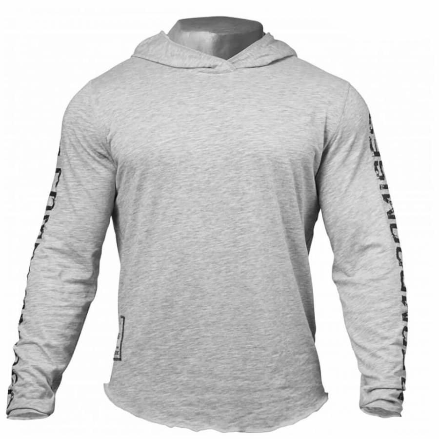 GASP No Compromise Hoody Grey Melange XL Harmaa