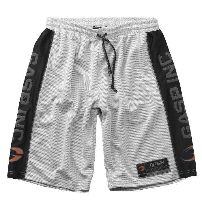 GASP No1 Mesh Shorts white/black Large