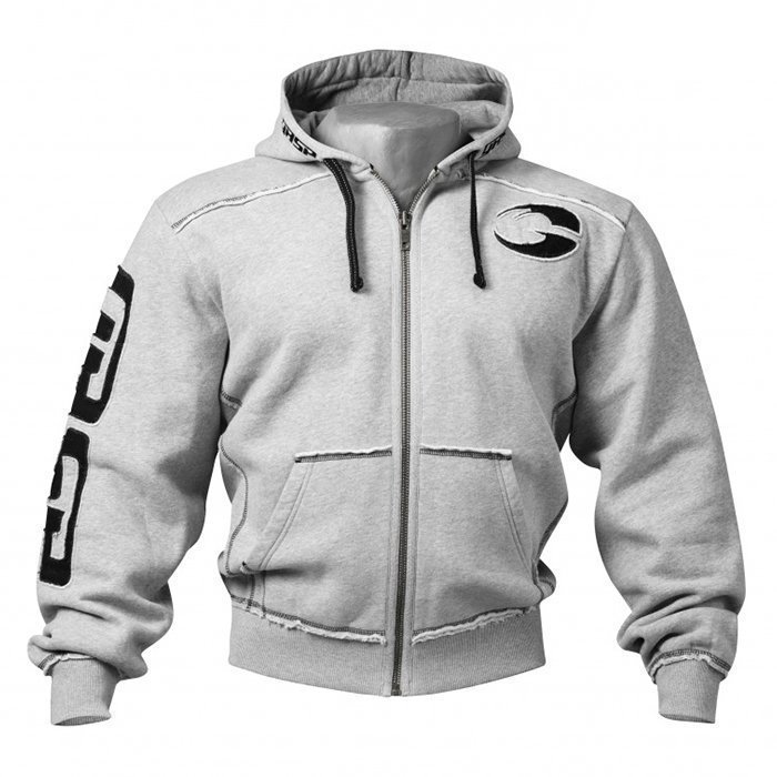 GASP Pro Gym Hood Greymelange Large