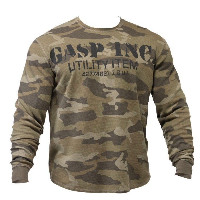 GASP Thermal Gym Sweater camoprint L