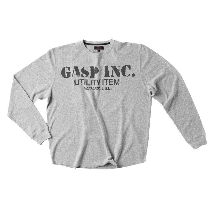 GASP Thermal Gym sweater Grey melange XXX-large