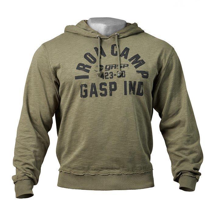 GASP Throwback Hoodie Wash Green XXL
