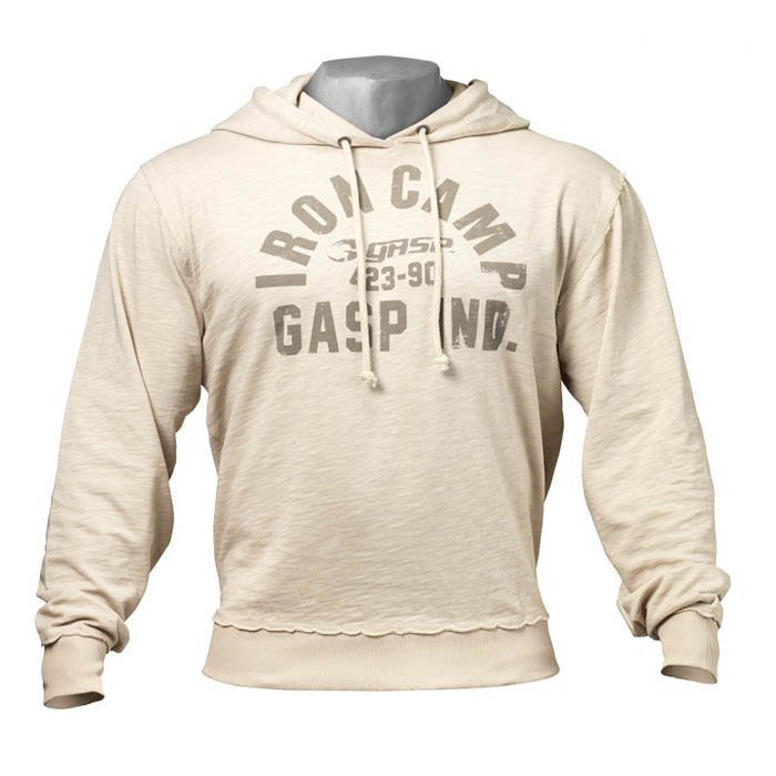 GASP Throwback Hoodie cement XL