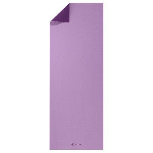 Gaiam 2 color Yoga mat 5mm Plum Jam