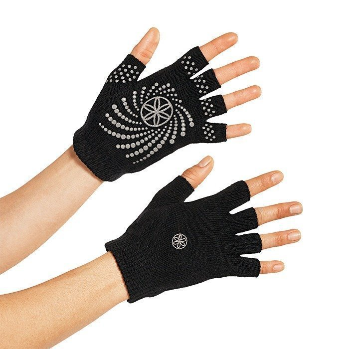 Gaiam Black Grippy Yoga Gloves