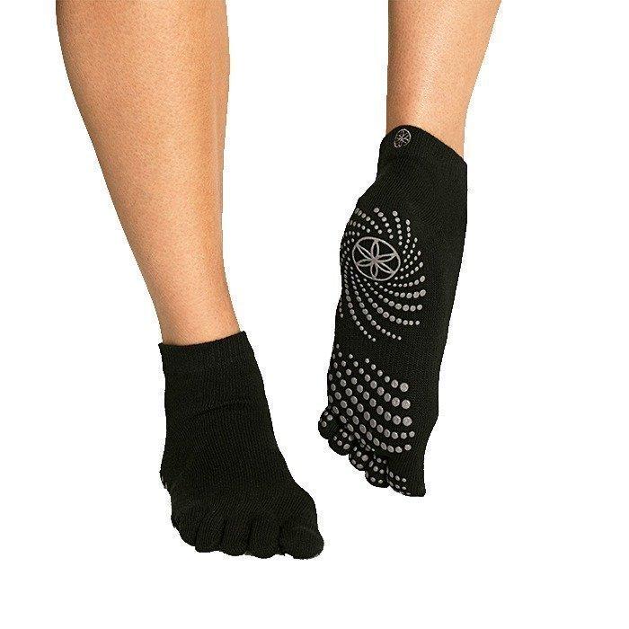 Gaiam Black Grippy Yoga Socks (Small/Medium)