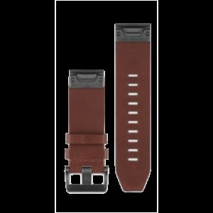 Garmin Quickfit 22 Watchband Brown Leather Ranneke