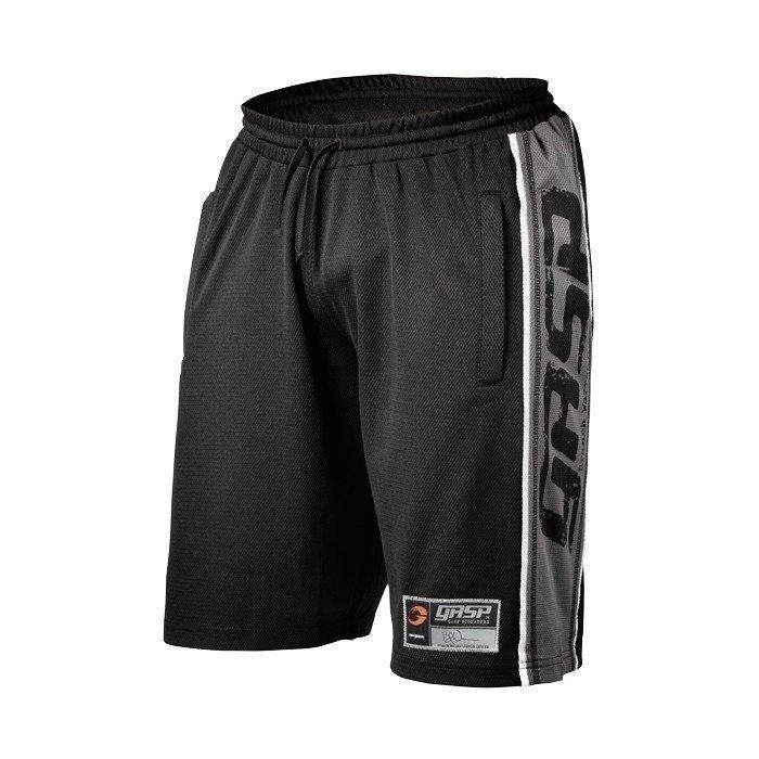 Gaspari Raw Mesh Shorts black/grey L