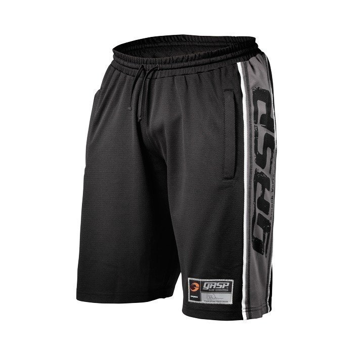 Gaspari Raw Mesh Shorts black/grey