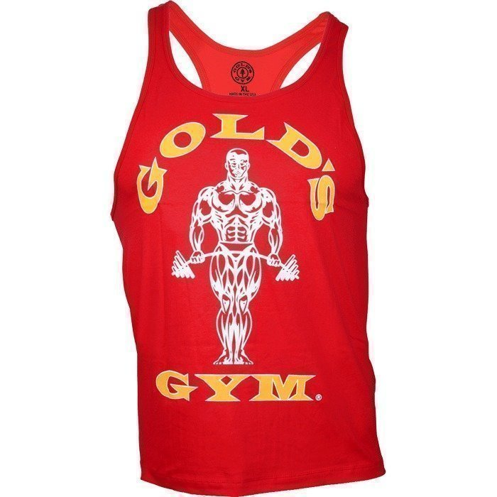 Gold's Gym Classic Gold's Gym Stringer Tank Top red