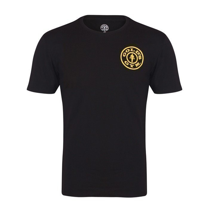 Gold's Gym Crew Neck Chest Logo Tee black M