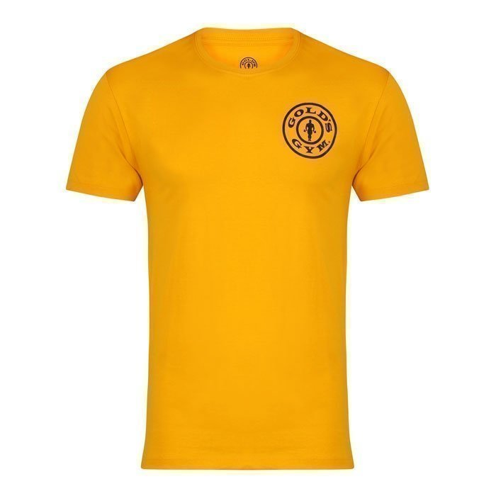 Gold's Gym Crew Neck Chest Logo Tee gold L