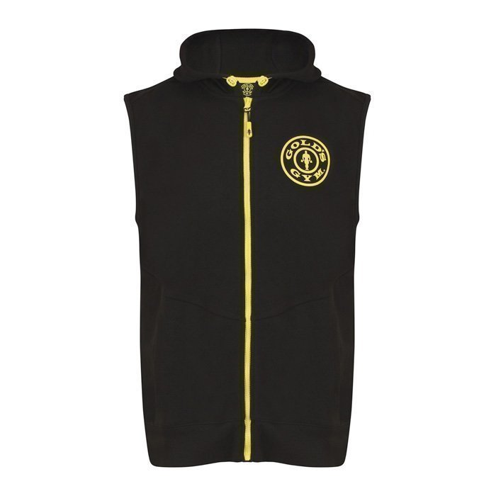 Gold's Gym Golds Gym Sleeveless Logo Hoodie Black M