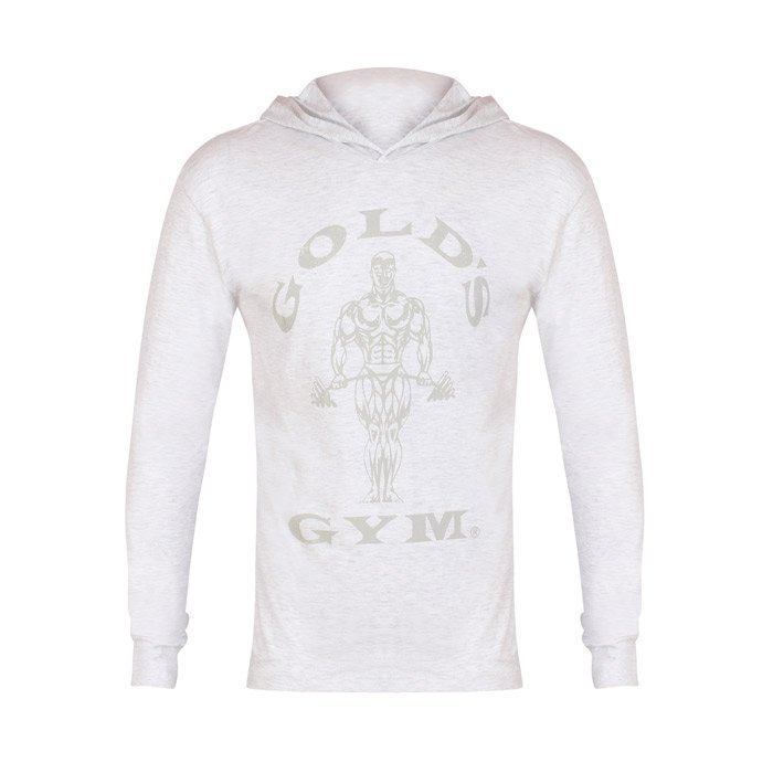 Gold's Gym LS Hood Top Wht XL