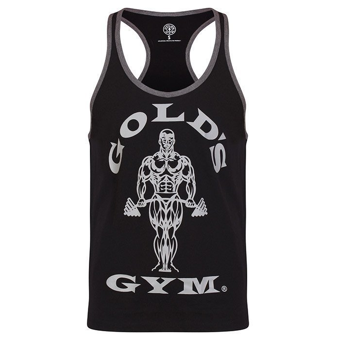 Gold's Gym Muscle Joe Contrast Stringer black/grey L