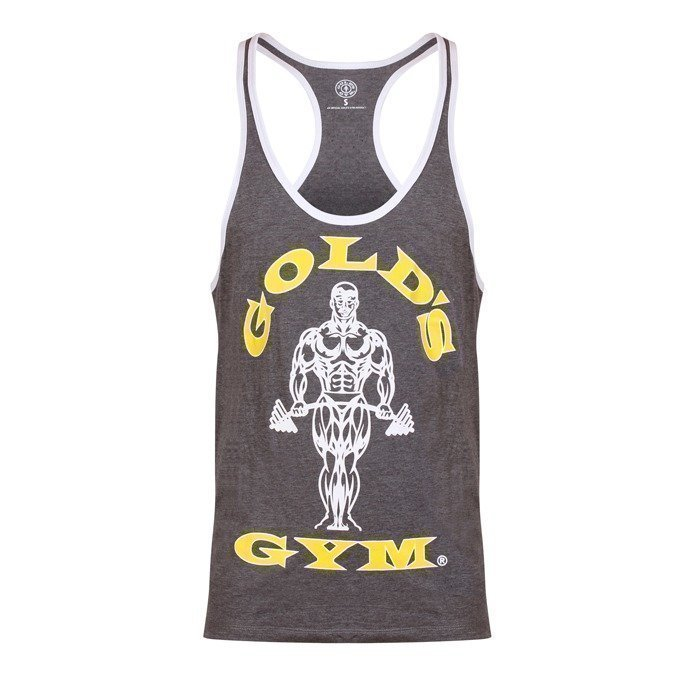 Gold's Gym Muscle Joe Contrast Stringer grey/white XL