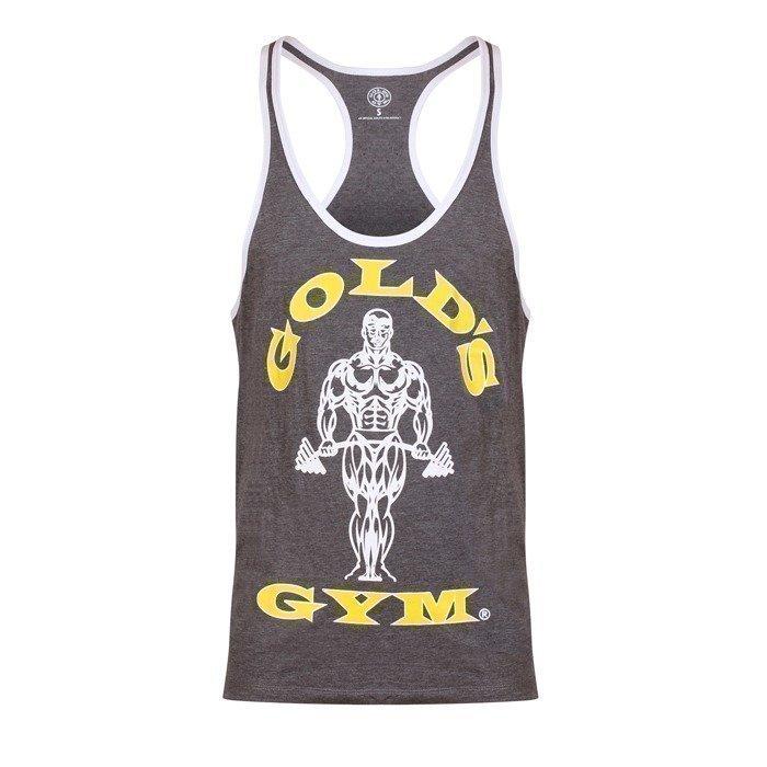 Gold's Gym Muscle Joe Contrast Stringer grey/white XXL
