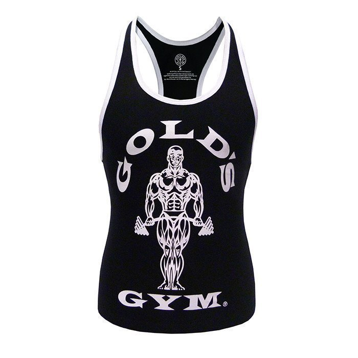 Gold's Gym Muscle Joe Ladies Stringer Black L