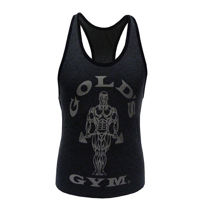 Gold's Gym Muscle Joe Ladies Stringer Charcoal M