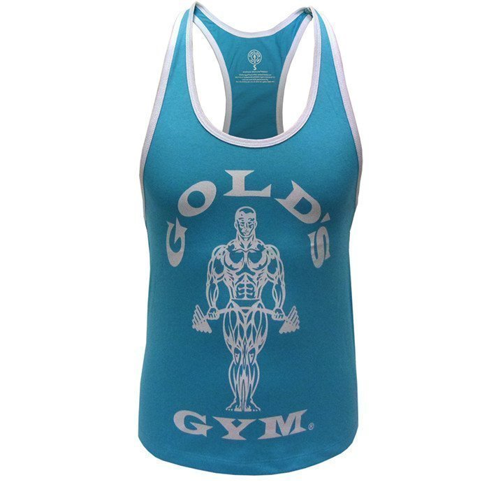 Gold's Gym Muscle Joe Ladies Stringer Turquoise M