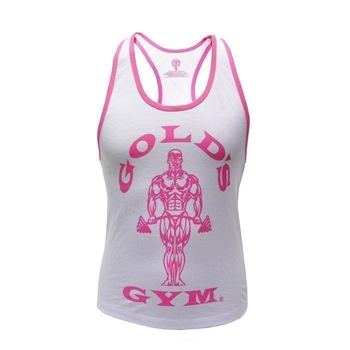 Gold's Gym Muscle Joe Ladies Stringer White S