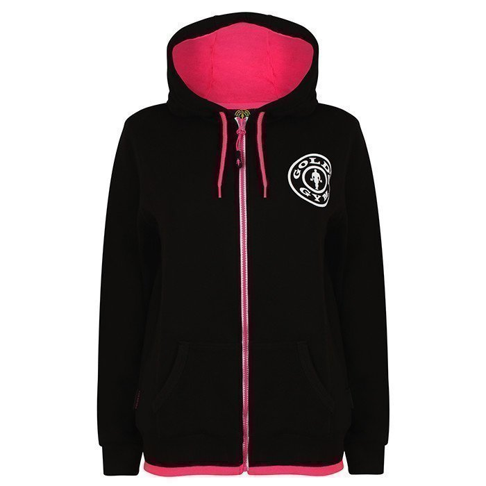 Gold's Gym Muscle Joe Ladies Zip Hoodie black L
