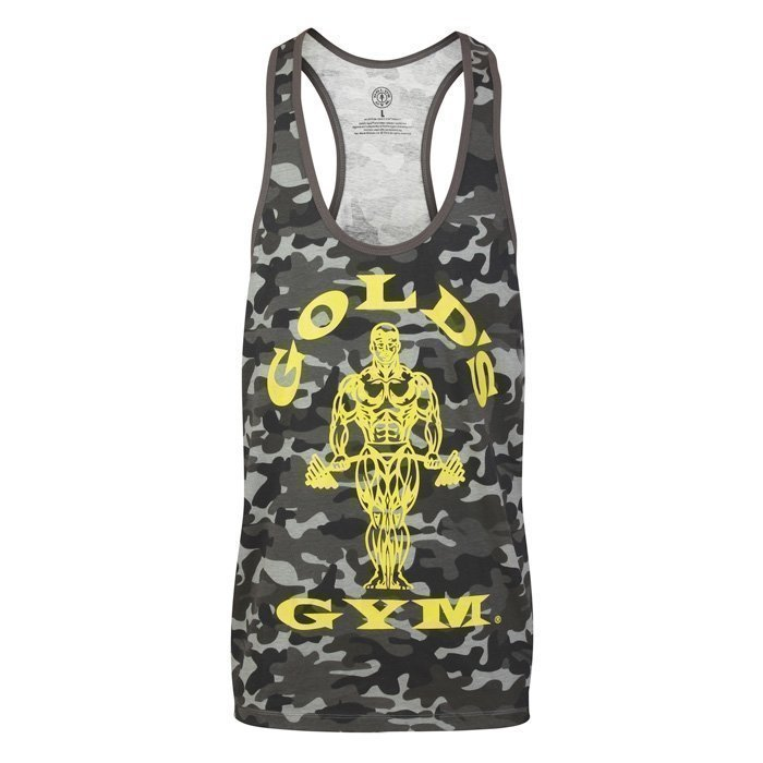 Gold's Gym Muscle Joe Premium Stringer Black/Camo L