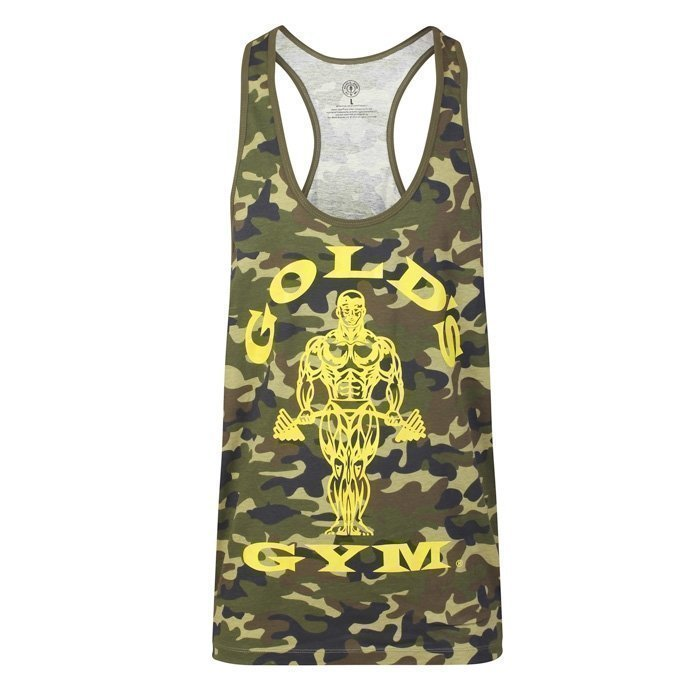 Gold's Gym Muscle Joe Premium Stringer Green/Camo L