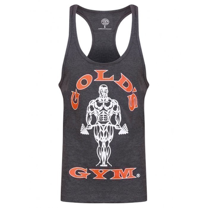 Gold's Gym Muscle Joe Stringer Charcoal / Red L