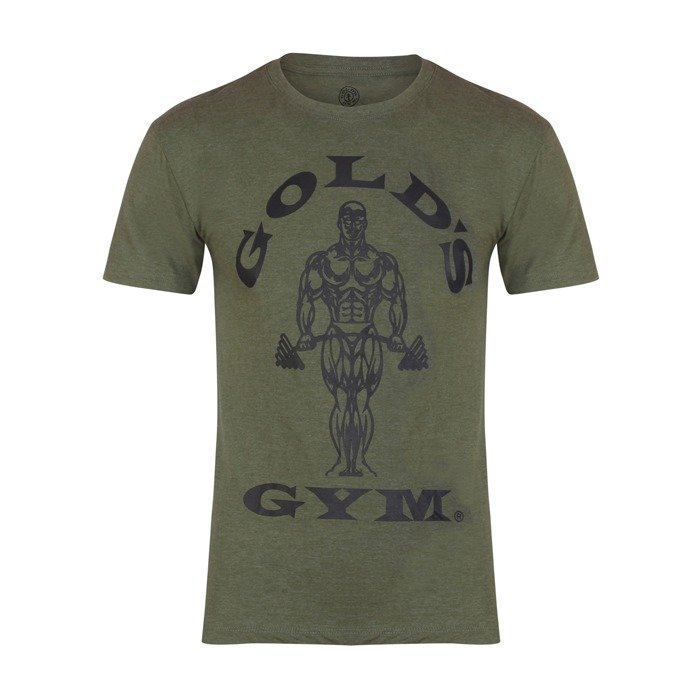 Gold's Gym Muscle Joe Tee Army L