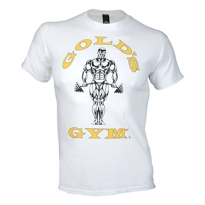 Gold's Gym Muscle Joe Tee White L