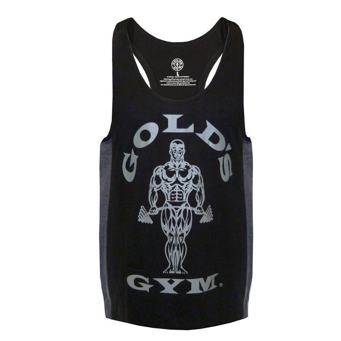 Gold's Gym Muscle Joe Tonal Panel Stringer Black/Charcoal XXL