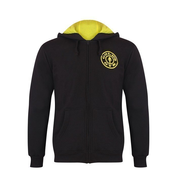 Gold's Gym Muscle Joe Zip Hoodie black S