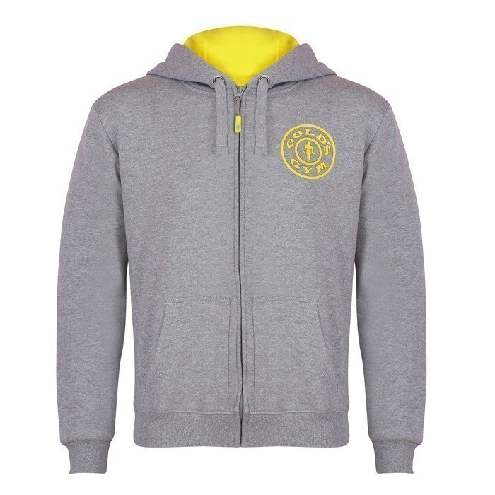 Gold's Gym Muscle Joe Zip Hoodie grey M