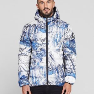 Good For Nothing All Over Print Bubble Jacket Sininen