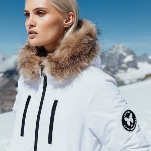 Good For Nothing Fur Hood Padded Jacket Valkoinen