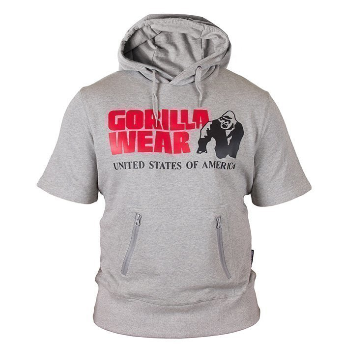 Gorilla Wear Boston Short Sleeve Hood grey XXXL