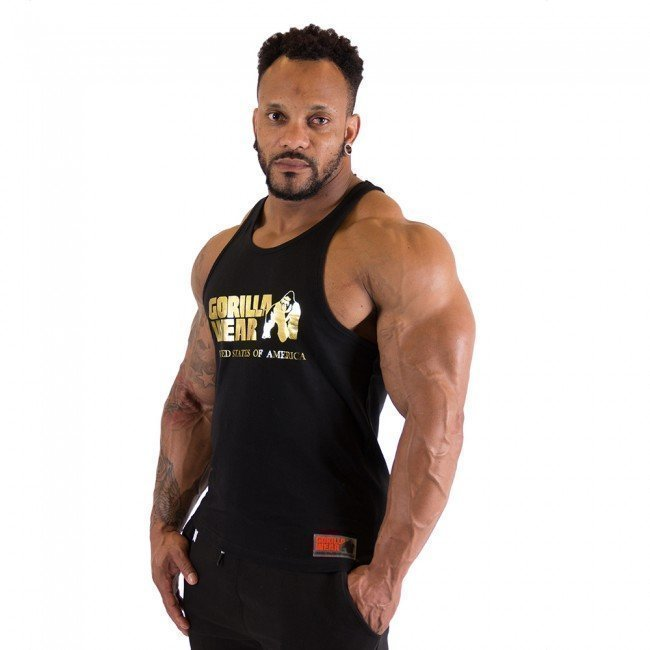 Gorilla Wear Classic Tank Top Black/Gold XXXL