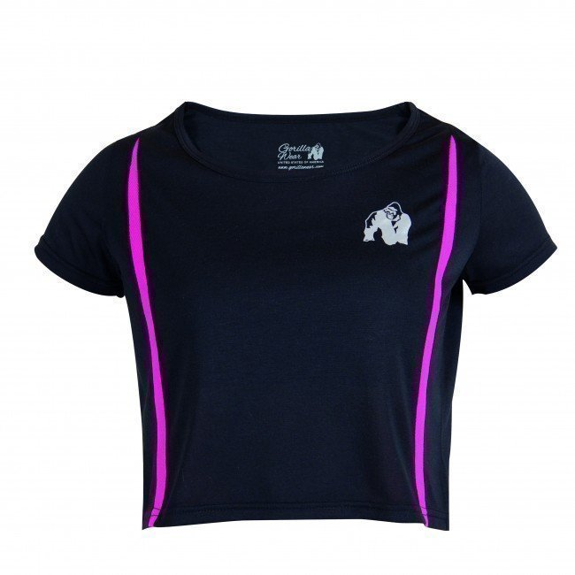 Gorilla Wear Columbia Crop Top Black/Pink XS