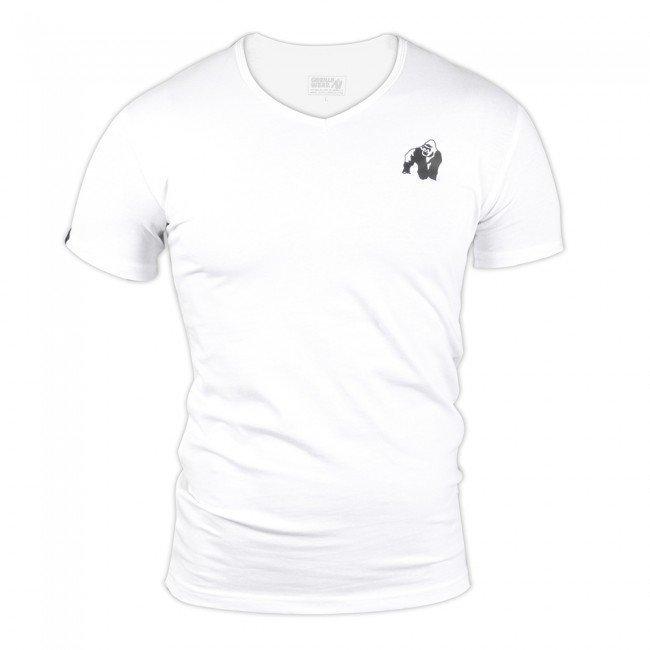 Gorilla Wear Essential V-Neck Tee White XL