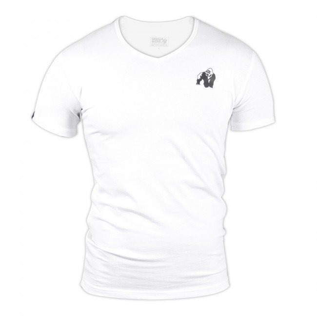 Gorilla Wear Essential V-Neck Tee White XXXXL